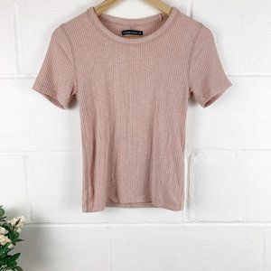 Abercrombie & Fitch Pink Knit Short Sleeve SZ S